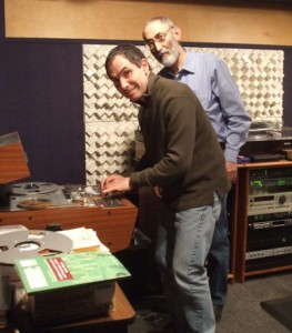 Bruce Gordon and Eduard Alekseyev at work in the Audio Preservation Studio, 2009
