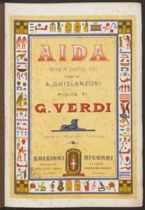 Giuseppe Verdi. Title page, Aida.