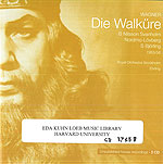Die Walküre. Royal Swedish Opera Archives. CD 36758