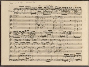 Johann Sebastian Bach. Detail of BWV 234. Merritt Room Mus 627.1.536