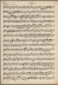 Wolfgang Amadeus Mozart. Detail, Sonata, K. 481. Merritt Mus 745.1.369.50
