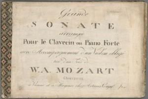 Wolfgang Amadeus Mozart. Title page, Divertimenti, K. 563, E♭ major; arr. Merritt Room Mus 745.1.230.15