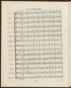 Luigi Cherubini. Overture, Anacreon. Merritt Room Mus 637.1.602
