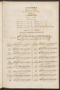 Luigi Cherubini. Catalogue des Morceaux, Lodoïska. Merritt Room Mus 637.1.627.5