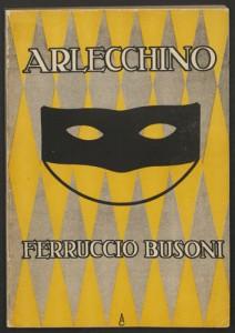 Ferruccio Busoni. Cover, Arlecchino. Mus 633.5.615