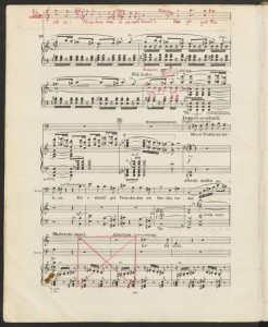 Ferruccio Busoni. Detail, showing extent of annotations, Die Brautwahl. Mus 633.5.621