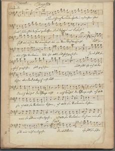 Luigi Cherubini. Manuscript of Terzetto, Faniska. Mus 637.1.690