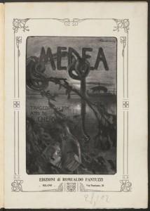 Luigi Cherubini. Title page, Medea. Mus 637.1.645.5