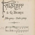 Giuseppe Verdi, Falstaff, 1893