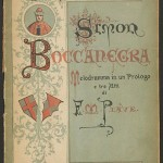 Cover, Simon Boccanegra. Merritt Room Mus 589.350.9