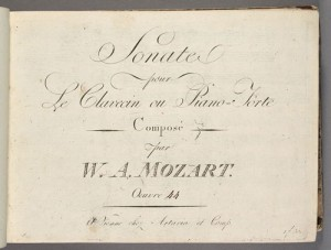 Title page, Sonatas K. 533 and 494. Merritt Room Mus 745.1.13
