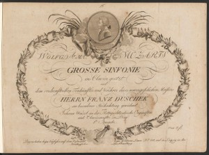 Title page, Symphony K. 543, arranged for piano. Merritt Room Mus 745.1.54.39.5