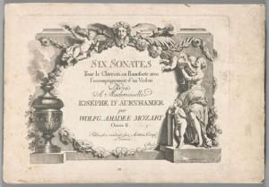 Title page, Six sonates pour le clavecin. Merritt Room Mus 745.1.379.10 BMEO