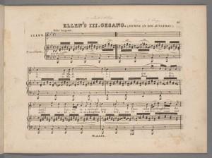 """""""Ellen's III. Gesang,"""" Sieben Gesänge aus Walter Scott's Fräulein vom See (1826). Merritt Room Mus 800.1.711.15 PHI"""
