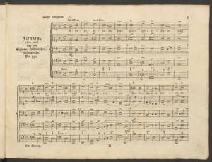 Carl Philipp Emanuel Bach. Litaneyen aus dem Schleswig-Holsteinischen Gesangbuche Merritt Room. Mus 627.2.542