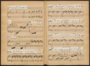 "Jules Massenet, ""Pourquoi me reveiller,"" Werther, pg. 176-177. Merritt Room Mus 742.14.640.5"