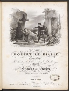 Giacomo Meyerbeer, Title page, Robert le Diable. Mus 743.3.601.5