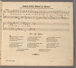 """Carl Philipp Emanuel Bach, """"Der Erste Psalm,"""" Psalmen mit Melodien. Merritt Room Mus 627.2.584"""