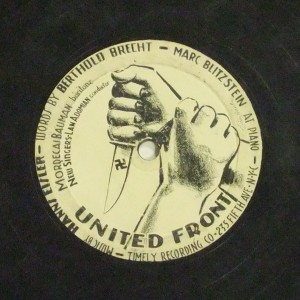 Label image, United Front, 528 Timely Recording Co. Record Coll. 78-36632