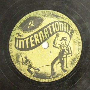 Label image, The internationale, 526 Timely Recording Co. Record Coll. 78-36633