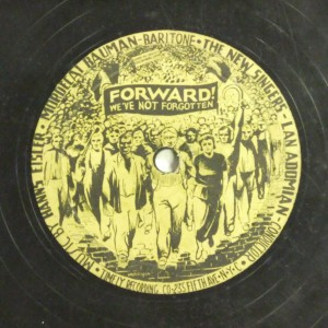 Label image, Forward! We've not forgotten, 529 Timely Recording Co. Record Coll. 78-36633