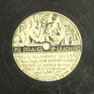 Label image, In praise of learning, 527 Timely Recording. Record Coll. 78-36634