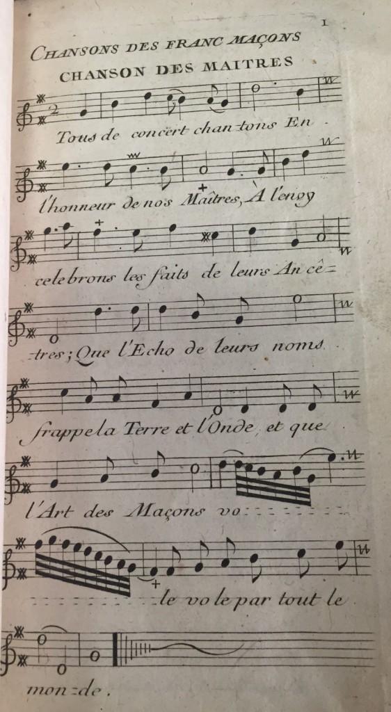 Chanson des maitres. Mus 558.8
