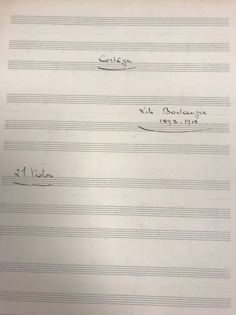 Example of handwriting, 2nd violin part.