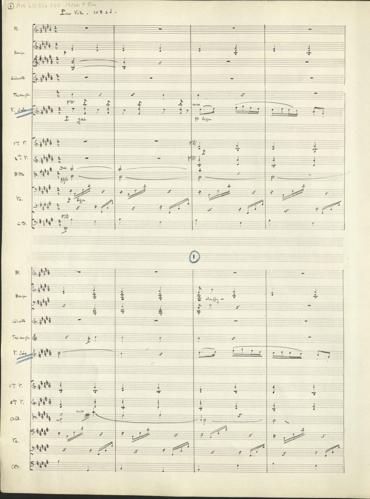 Manuscript, page one of Cortege.