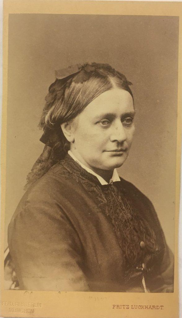 Carte-de-visite of Clara Schumann