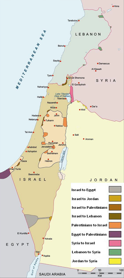 Land Swaps For Peace Middle East Strategy At Harvard - Map of egypt israel jordan syria
