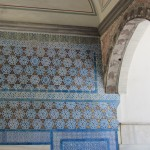 Tiles at the Topkapi Palace in Istanbul.