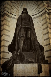 Image of the statue of the Golem of Prague at the entrance to the Jewish Quarter of Prague by flickr user D_P_R. Used by permission.