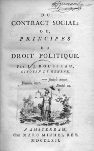 Cover of Rousseau's Social Contract