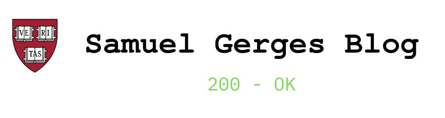 Samuel Gerges Blog