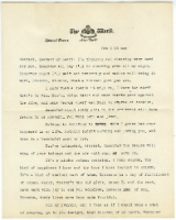 Letter from Jonathan Mitchell, February 1928 -- page 1