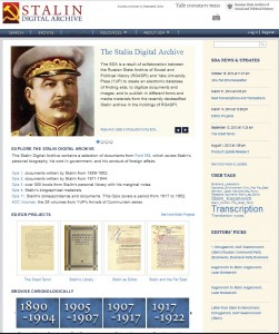 Stalin Digital Archive: front page