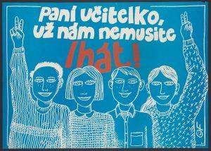 Czech political posters : November-December 1989 : The Velvet Revolution, Občanské fórum, Václav Havel. RI 8001162482-hollis-8927700