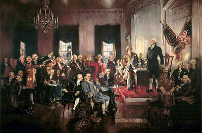 The Signing of the Constitution of the United States -September 17, 1787