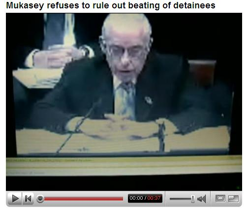Mukasey refuses to rule out beating of detainees