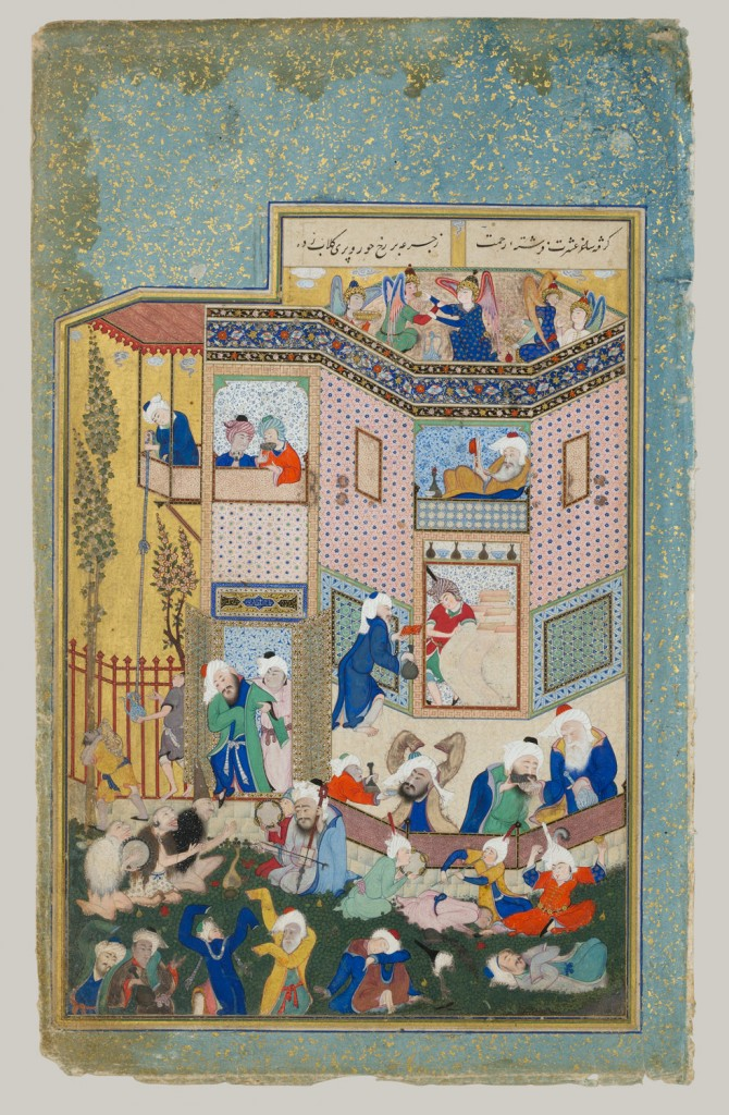 Working Title/Artist: Divan of Hafiz from Allegory…Drunkenness Department: Islamic Art Culture/Period/Location: HB/TOA Date Code: 08 Working Date: photography by mma, DP167098.tif retouched by film and media (jnc) 9_24_08