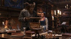 The Beast (Dan Stevens) and Belle (Emma Watson) in the castle library in Disney's BEAUTY AND THE BEAST, a live-action adaptation of the studio's animated classic which is a celebration of one of the most beloved stories ever told.