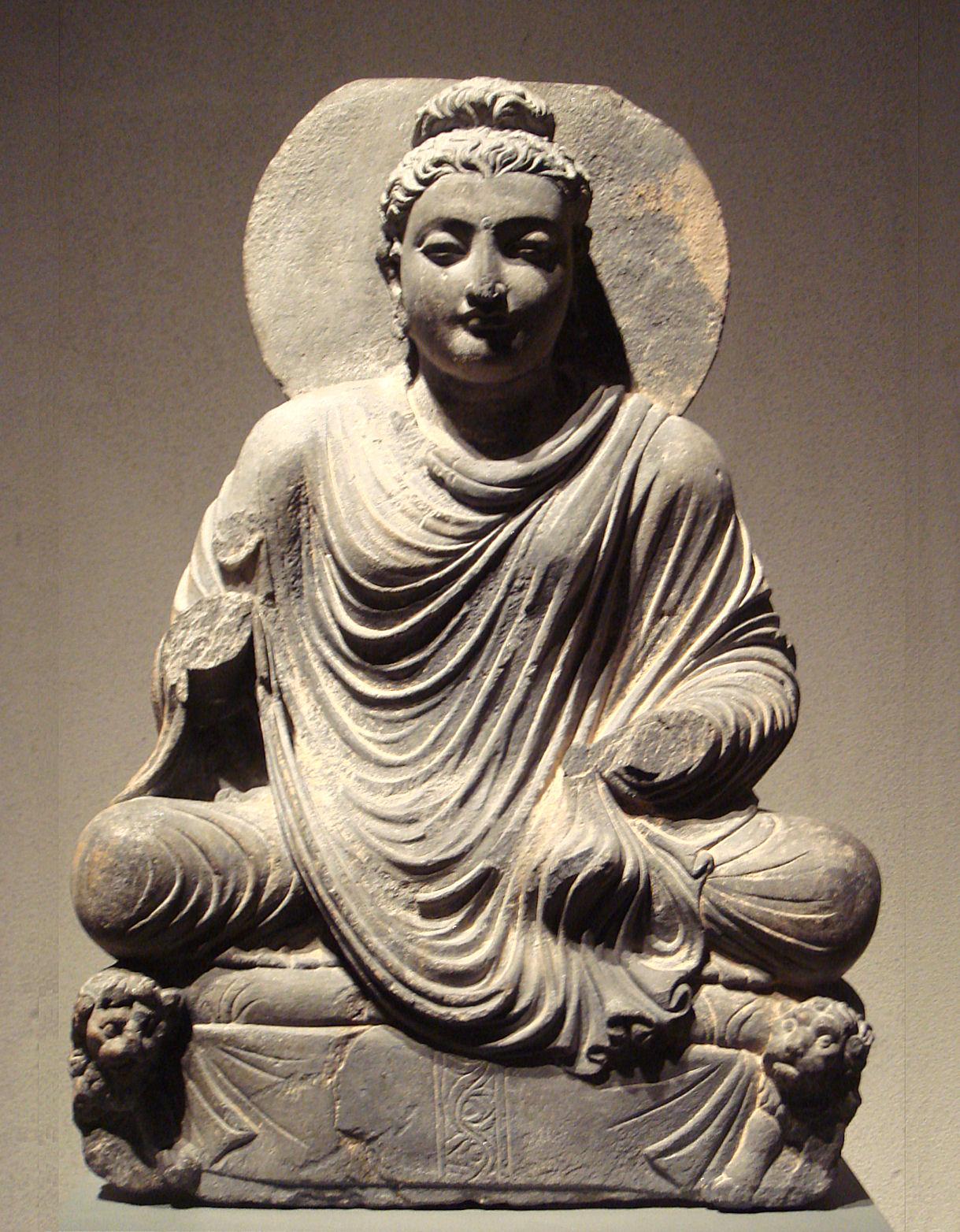 Seated Buddha Gandhara 2nd Century Ostasiatische Museum