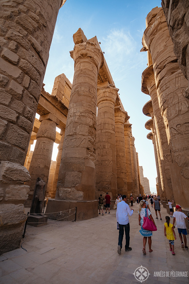 The Hypostyle hall of the Karnak Temple
