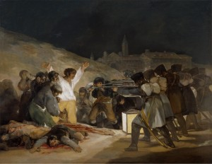 "<em>The Third of May 1808 in Madrid or ""The Executions""</em> by Francisco Goya, 1814. Held by Museo Del Prado, I got this image from their <a href=""https://www.museodelprado.es/en/the-collection/art-work/the-3rd-of-may-1808-in-madrid-or-the-executions/5e177409-2993-4240-97fb-847a02c6496c"" target=""_blank"">website</a> for personal use."