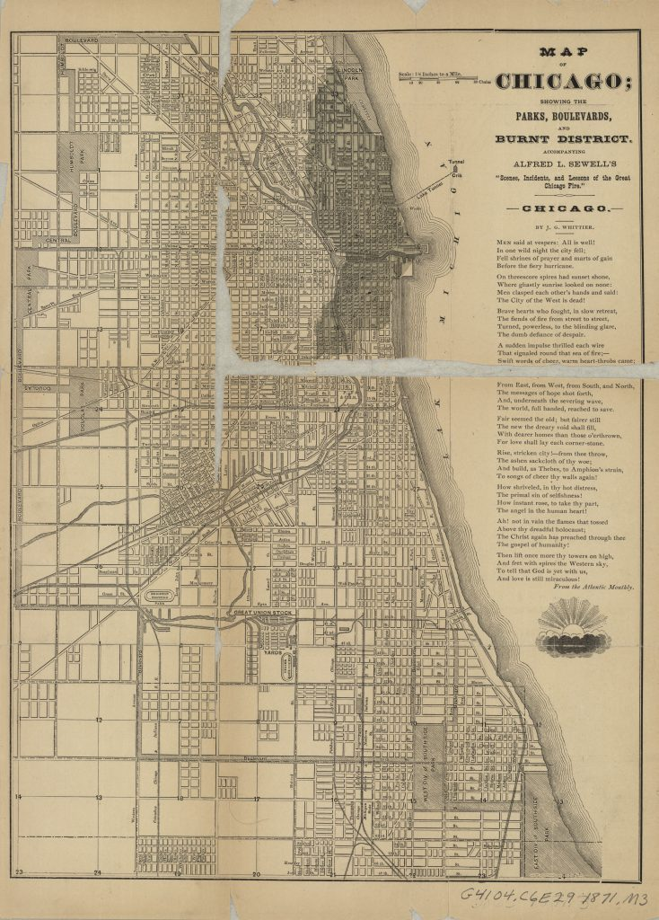 Chicago 1871 The Harvard Map Collection Presents