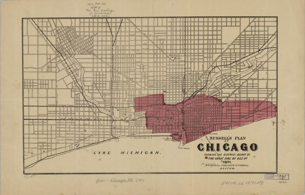 Chicago, 1871 | The Harvard Map Collection Presents: on