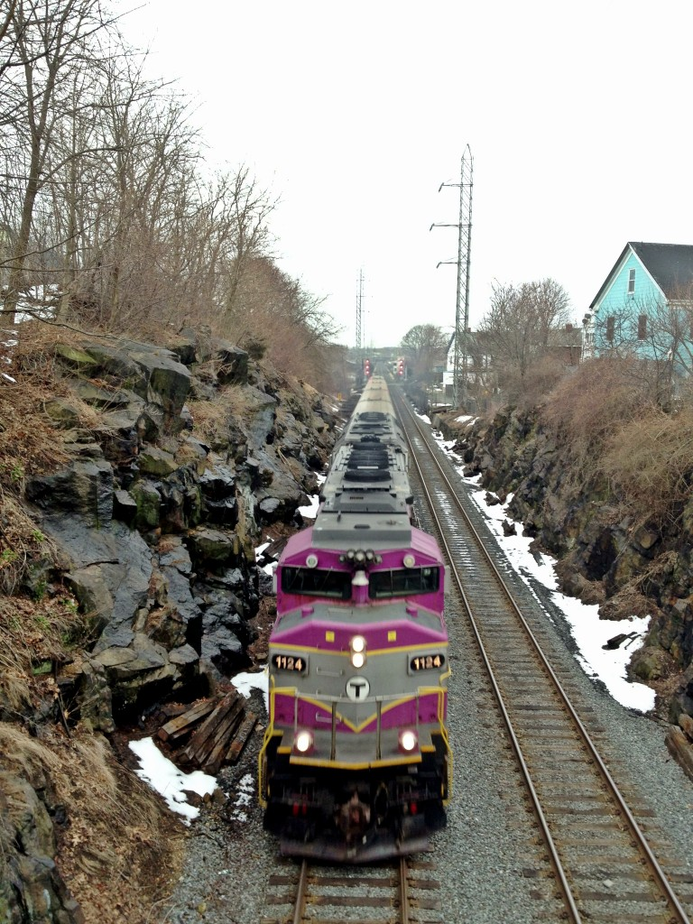 commuter rail train boston mbta