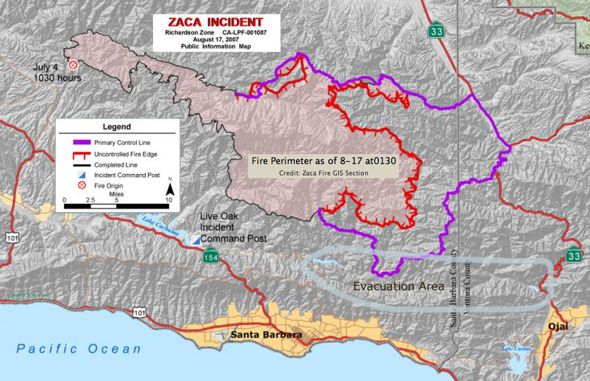 Doc Searls Weblog Latest On The Zaca Fire