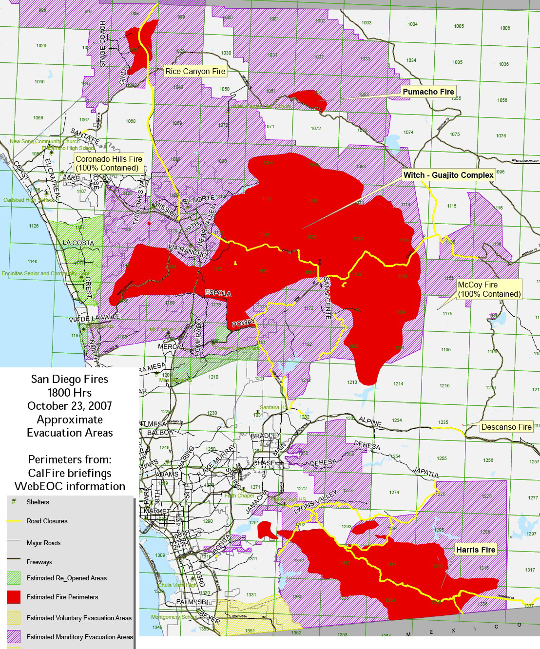 San Diego Fire Map Today.Doc Searls Weblog A Jpg Fire Map At 1800hrs
